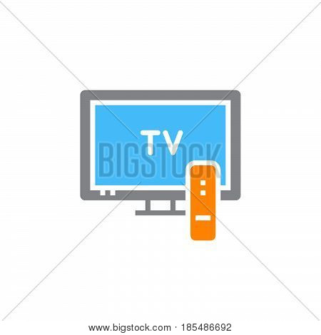 television icon vector tv solid sign colorful pictogram isolated on white logo illustration