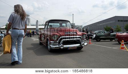 Berlin - May 11: Car Gmc Deluxe Cab Pickup Truck 350 V8 Th350, 26Th Oldtimer-tage Berlin-brandenburg
