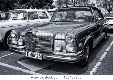 Berlin - May 11: Car Mercedes-benz 280 Se (w111) Coupe (black And White, Toning), 26Th Oldtimer-tage