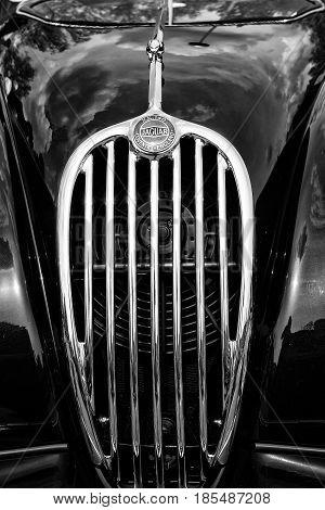 Berlin - May 11: Radiator (engine Cooling) Sports Car Jaguar Xk140 Roadster, (black And White), 26Th
