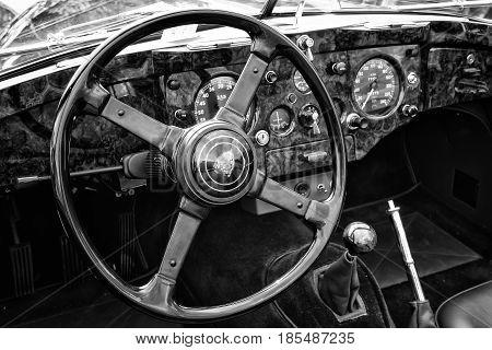 Berlin - May 11: Cab Car Jaguar Xk140 Roadster, (black And White), 26Th Oldtimer-tage Berlin-branden