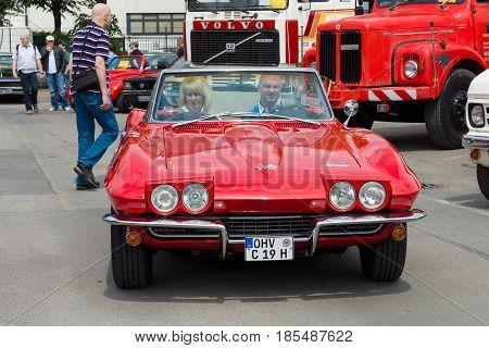 Berlin - May 11: Sport Car Corvette Sting Ray Convertible (c2), 26Th Oldtimer-tage Berlin-brandenbur