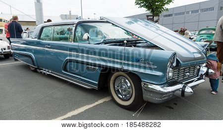 BERLIN - MAY 11: Car Lincoln Premiere Coupe Custom Showcar 1960 26th Oldtimer-Tage Berlin-Brandenburg May 11 2013 Berlin Germany