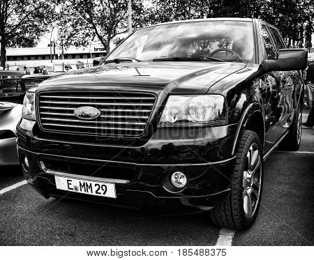 BERLIN - MAY 11: The Ford Expedition is a full-size SUV (black and white) 26th Oldtimer-Tage Berlin-Brandenburg May 11 2013 Berlin Germany