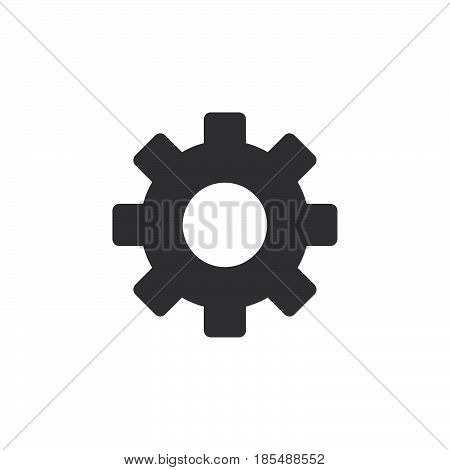 Cog Icon Vector, Settings Solid Logo Illustration, Gear Pictogram Isolated On White