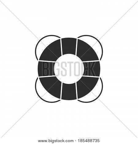 Help Icon Vector, Lifebuoy Solid Logo Illustration, Pictogram Isolated On White