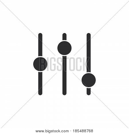 Preferences Icon Vector, Settings Solid Logo Illustration, Pictogram Isolated On White