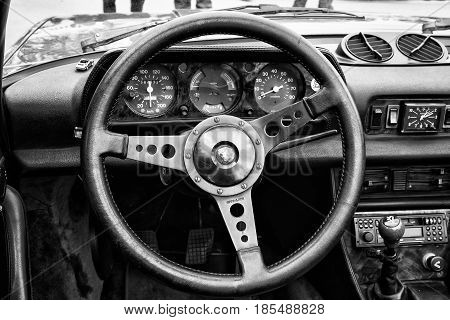 Berlin - May 11: Cab Peugeot 504, Black And White, 26. Oldtimer-tage Berlin-brandenburg, May 11, 201