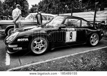 Berlin - May 11: Sports Car Porsche 997 (black And White) Race Team H&r, 26Th Oldtimer-tage Berlin-b