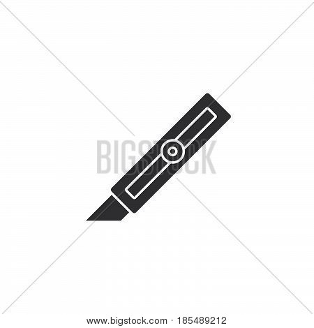 Cutter Knife Icon Vector, Solid Logo Illustration, Pictogram Isolated On White