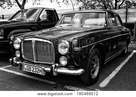 Berlin - May 11: British Luxury Car Rover P5B, (black And White), 26Th Oldtimer-tage Berlin-brandenb