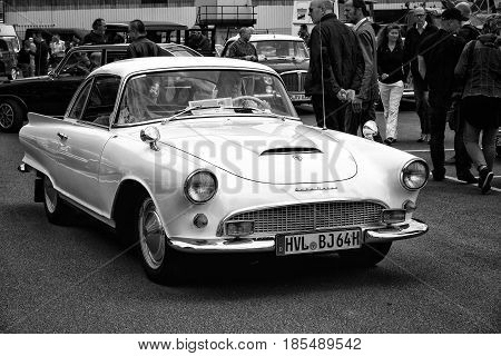 Berlin - May 11: Car Auto Union 1000 Sp Coupe (black And White), 26Th Oldtimer-tage Berlin-brandenbu