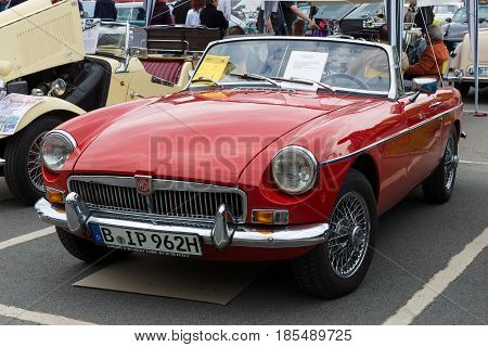 Berlin - May 11: British Sport Car Mg Mgb Mkiii, 26. Oldtimer-tage Berlin-brandenburg, May 11, 2013