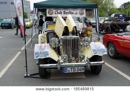 BERLIN - MAY 11: Roadster 1951 MG TD Midget 26th Oldtimer-Tage Berlin-Brandenburg May 11 2013 Berlin Germany