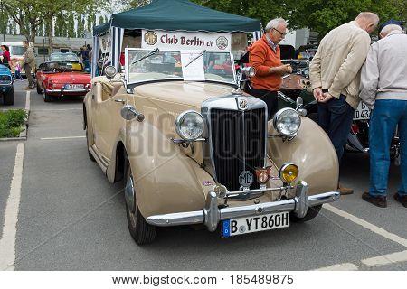 BERLIN - MAY 11: Car MG Y-type 26th Oldtimer-Tage Berlin-Brandenburg May 11 2013 Berlin Germany