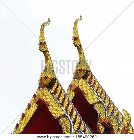 Gable Apex Architecture Of Golden Buddha Of Thailand