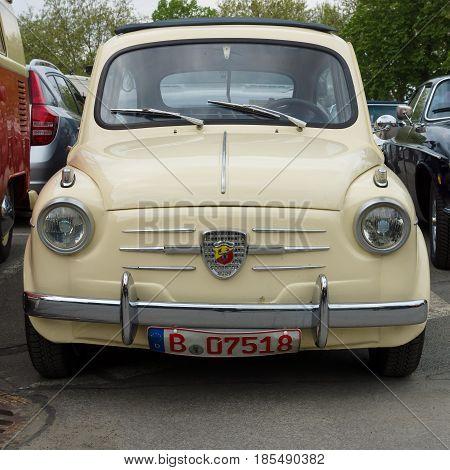 Berlin - May 11: Small Car Fiat Abarth 750, 26Th Oldtimer-tage Berlin-brandenburg, May 11, 2013 Berl