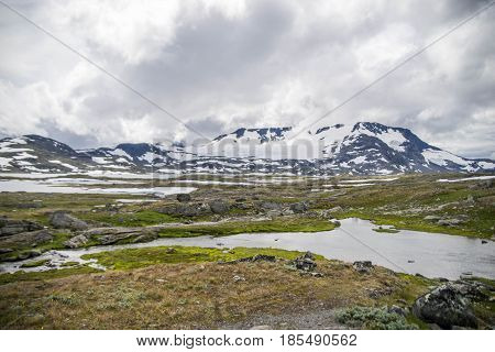 Travel In Norway Mountains At Summer