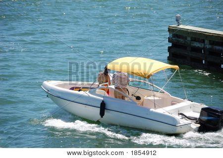 Small White Boat