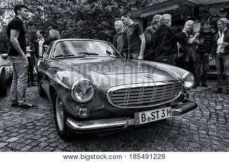 Berlin - May 11: Sports Car Volvo P1800E (black And White), 26Th Oldtimer-tage Berlin-brandenburg, M