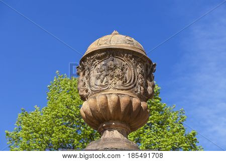 Troja Palace in sunny day mythical vase Prague Czech Republic Europe
