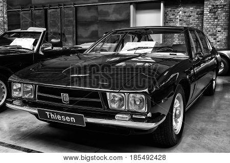 Berlin - May 11: Italian Four-door Sedan Iso Rivolta Fidia (black And White), 26Th Oldtimer-tage Ber