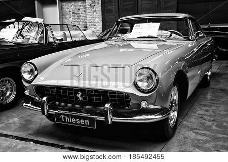 Berlin - May 11: The Italian Sports Car Ferrari 250Gt Coupe Pininfarina, (black And White), 26Th Old