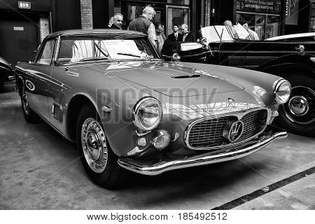 Berlin - May 11: Car Class Grand Tourer Maserati 3500 Gt (tipo 101), (black And White), 26Th Oldtime
