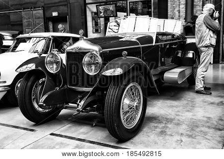 Berlin - May 11: The Belgian Luxury Vehicle 30S Minerva Type Ab Torpedo, 1925, (black And White), 26