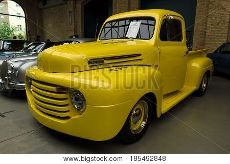 Berlin - May 11: Full-size Pickup Truck Ford F1 Pickup, 26Th Oldtimer-tage Berlin-brandenburg, May 1