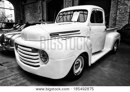 Berlin - May 11: Full-size Pickup Truck Ford F1 Pickup, (black And White), 26Th Oldtimer-tage Berlin
