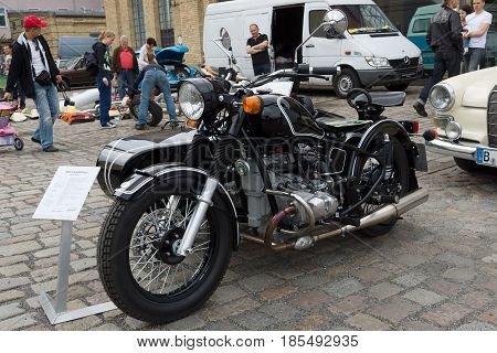Berlin - May 11: Soviet-russian Heavy Motorcycle With Sidecar Ural Retro, 26Th Oldtimer-tage Berlin-