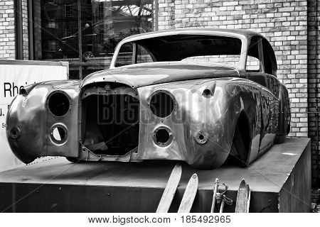 Berlin - May 11: Coachwork Retro Car, (black And White), 26Th Oldtimer-tage Berlin-brandenburg, May