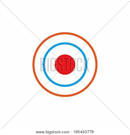 Bullseye Icon Vector, Target Solid Logo Illustration, Colorful Pictogram Isolated On White
