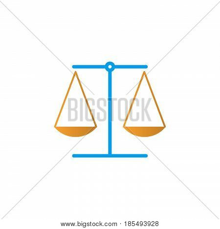 Law Symbol. Scales Icon Vector, Libra Solid Logo Illustration, Colorful Pictogram Isolated On White
