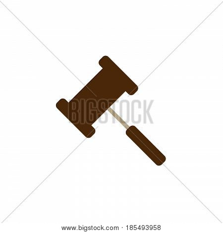 Gavel Icon Vector, Judge Hammer Solid Logo Illustration, Colorful Pictogram Isolated On White