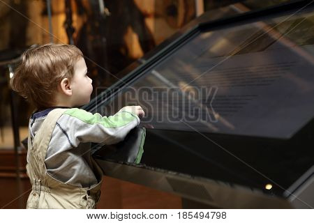 Boy Learning Touch Screen