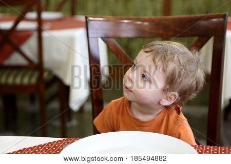 Child In Restaurant