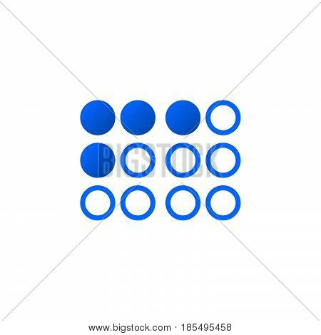 Braille Symbol. Icon Vector, Solid Logo Illustration, Colorful Pictogram Isolated On White