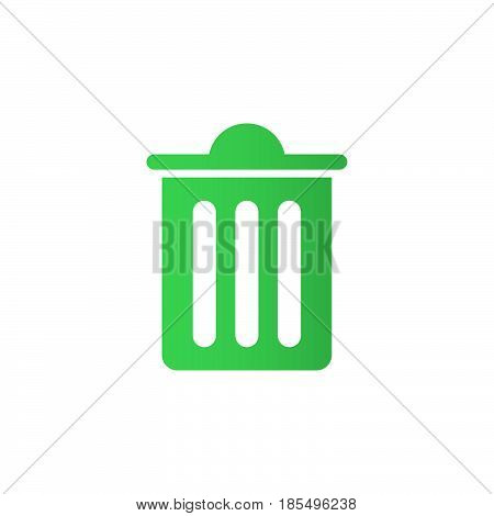 Trash Bin Icon Vector, Delete Solid Logo Illustration, Colorful Pictogram Isolated On White