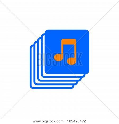Music Collection Icon Vector, Playlist Solid Logo Illustration, Colorful Pictogram Isolated On White