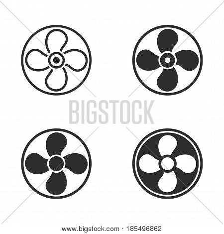 Fan vector icons set. Illustration isolated for graphic and web design.