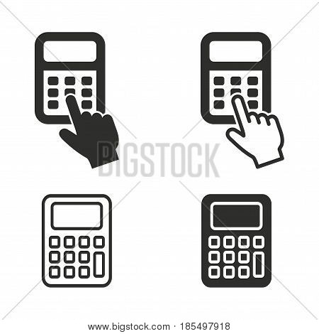 Calculator vector icons set. Illustration isolated for graphic and web design.