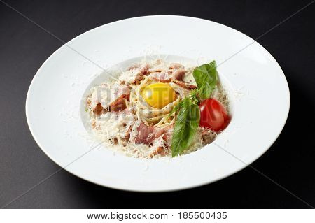 Spaghetti Carbonara. Italian Style. Italian Food. Italian Cuisine.