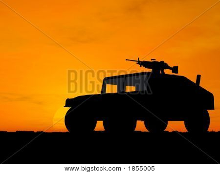Vehicle Over Sunset