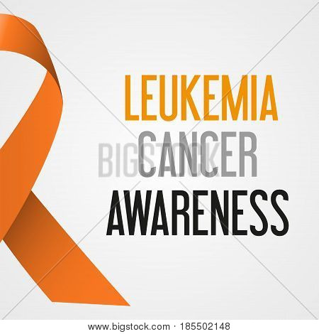 World Leukemia Cancer Day Awareness Poster Eps10