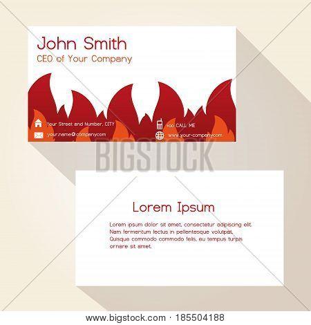 Fire Brigade Theme Business Card Design Eps10