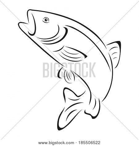 Trout, fish, black, fishing and fish logo