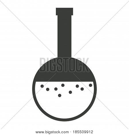 glass beaker laboratory liquid bottle vector illustration