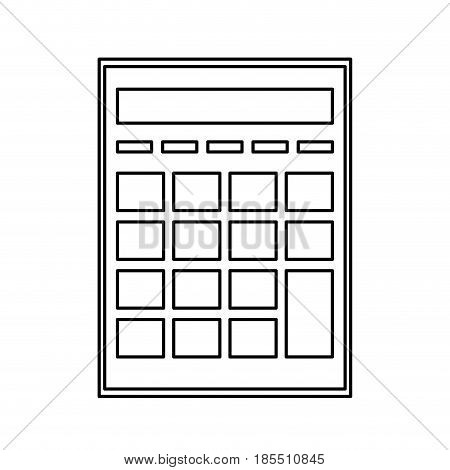calculator investigate research rates line vector illustration